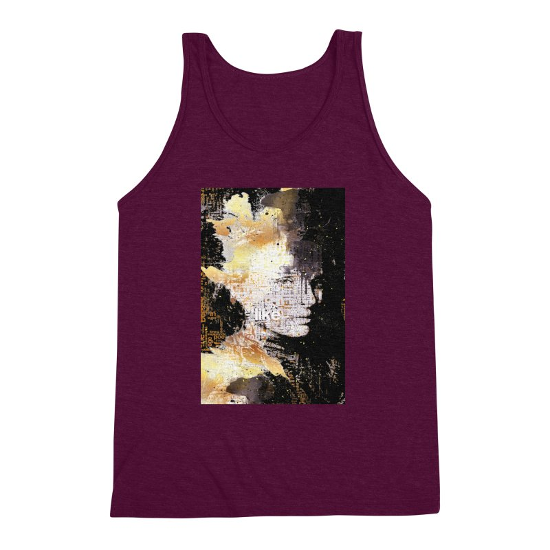 Typo face Men's Triblend Tank by Abstract designs