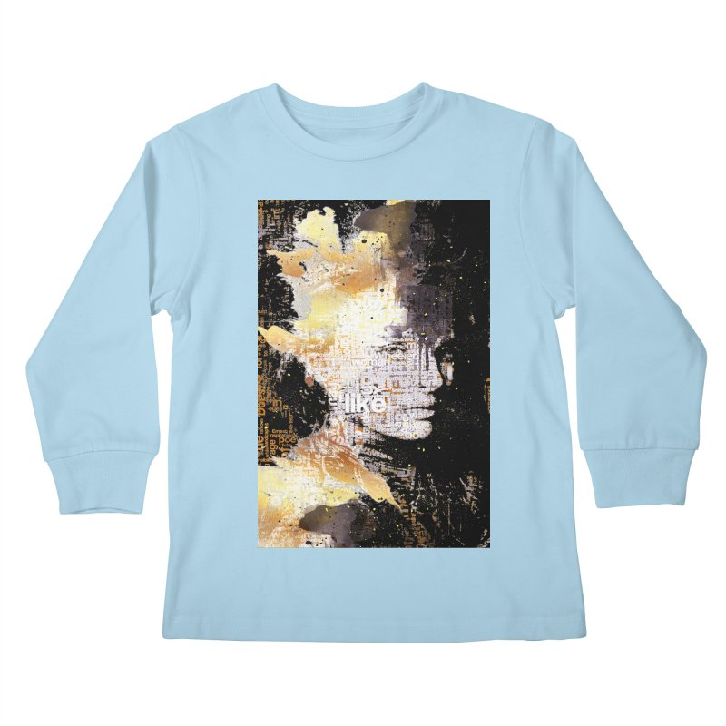 Typo face Kids Longsleeve T-Shirt by Abstract designs