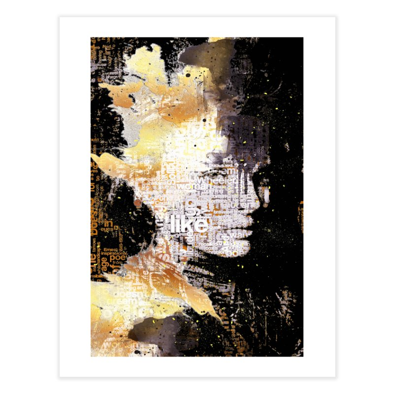 Typo face Home Fine Art Print by Abstract designs
