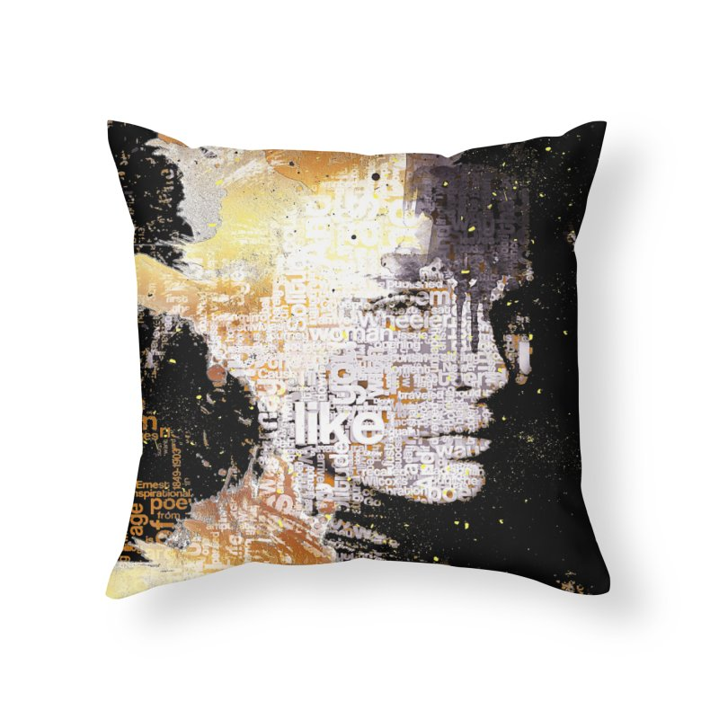 Typo face Home Throw Pillow by Abstract designs
