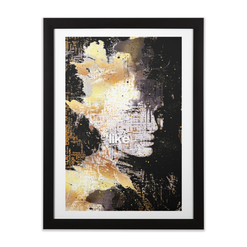 Typo face Home Framed Fine Art Print by Abstract designs