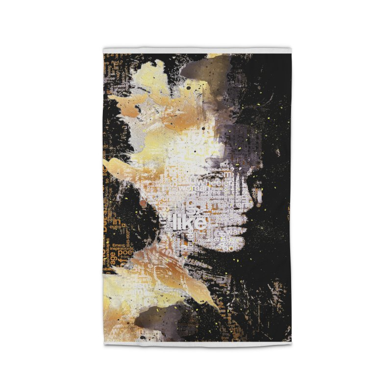 Typo face Home Rug by Abstract designs