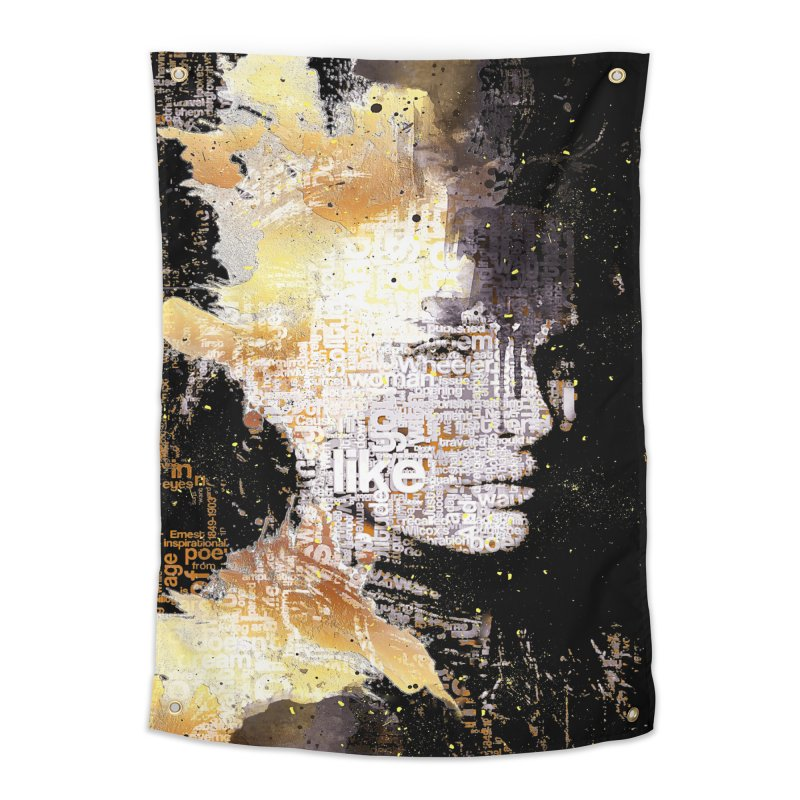 Typo face Home Tapestry by Abstract designs