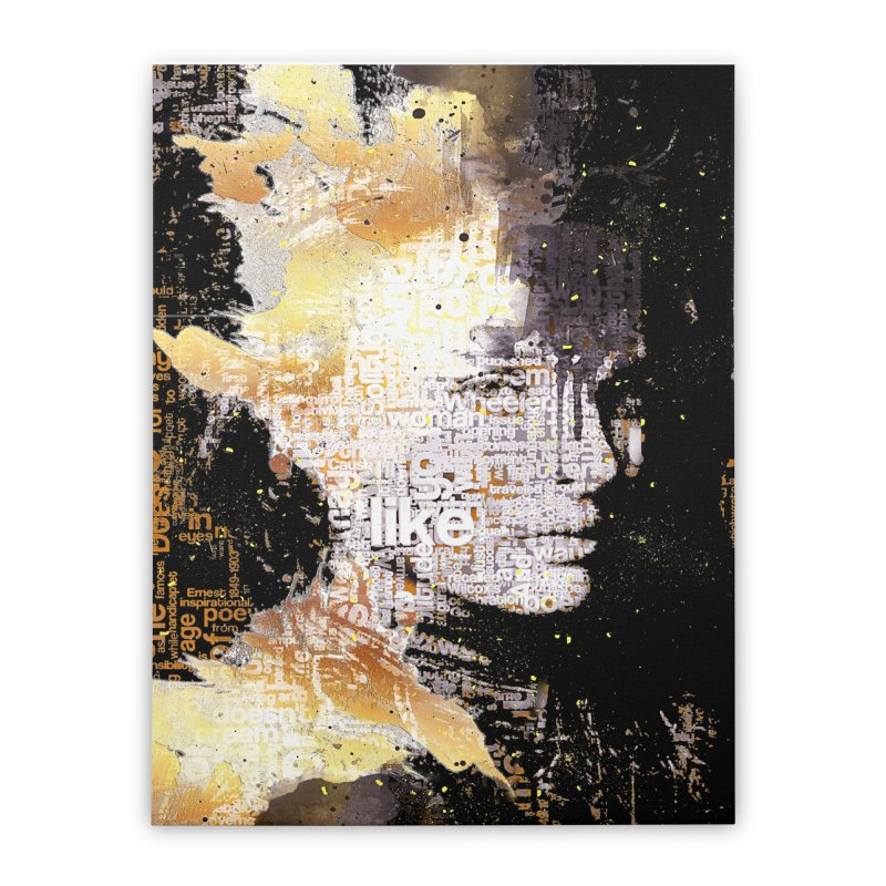 Typo face Home Stretched Canvas by Abstract designs