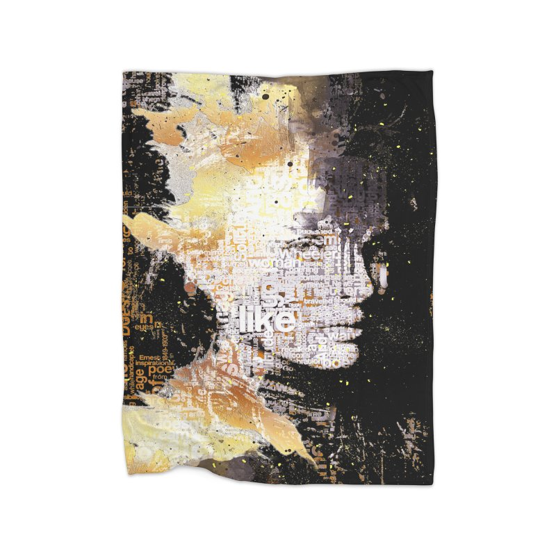 Typo face Home Blanket by Abstract designs