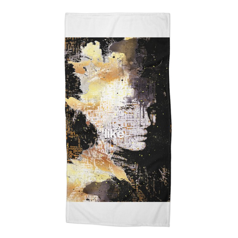 Typo face Accessories Beach Towel by Abstract designs