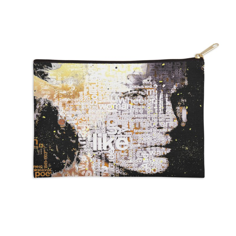 Typo face Accessories Zip Pouch by Abstract designs