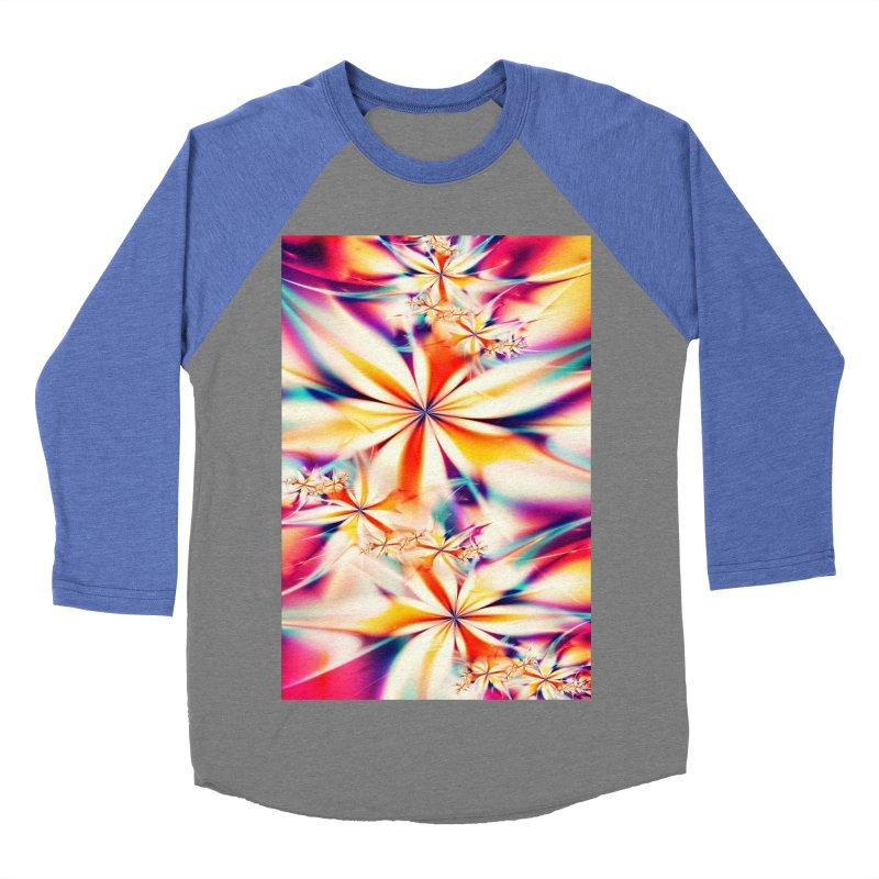 Fractal Art XX Men's Baseball Triblend T-Shirt by Abstract designs