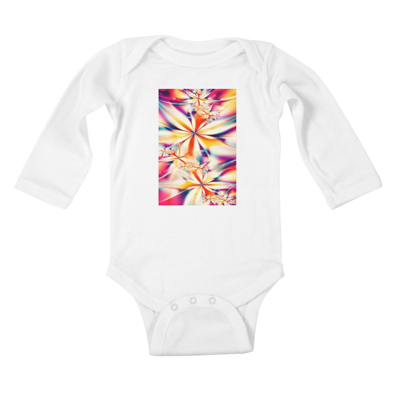 Fractal Art XX Kids Baby Longsleeve Bodysuit by Abstract designs