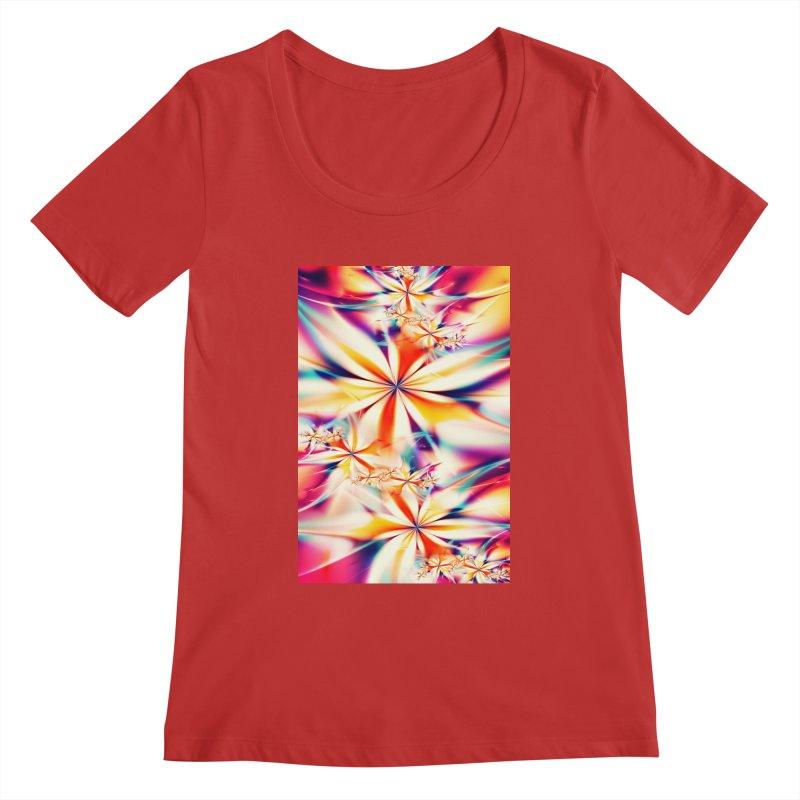 Fractal Art XX Women's Scoopneck by Abstract designs
