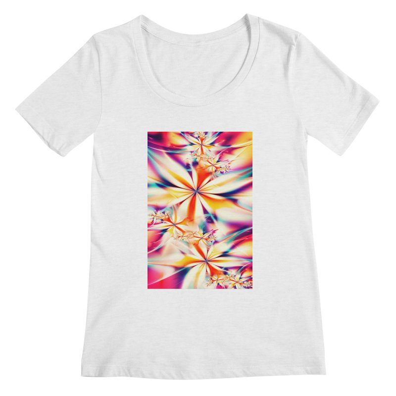 Fractal Art XX Women's Scoopneck by Abstract designs