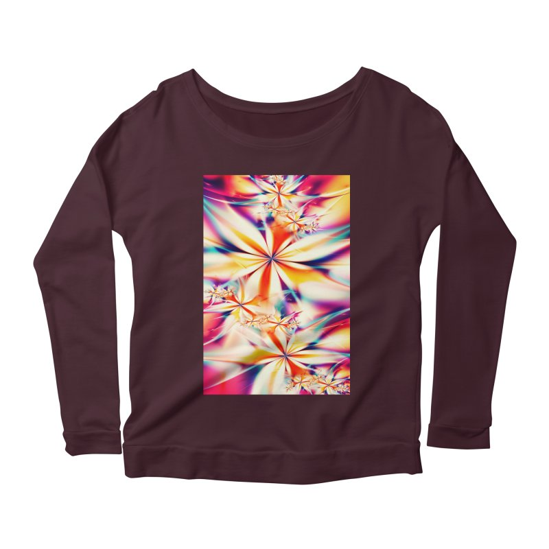 Fractal Art XX Women's Longsleeve Scoopneck  by Abstract designs