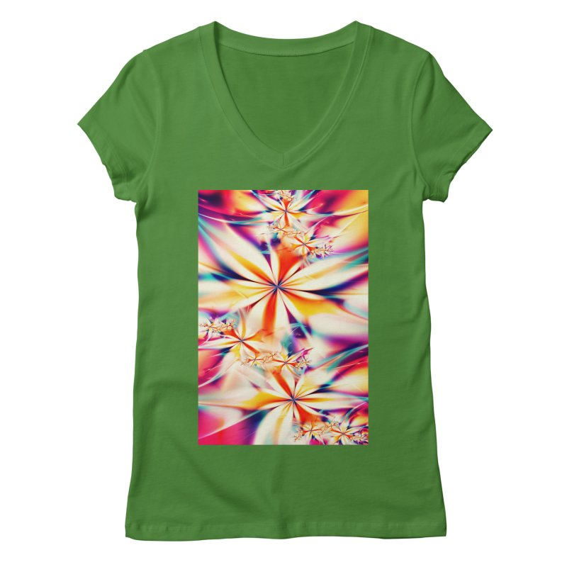 Fractal Art XX Women's V-Neck by Abstract designs