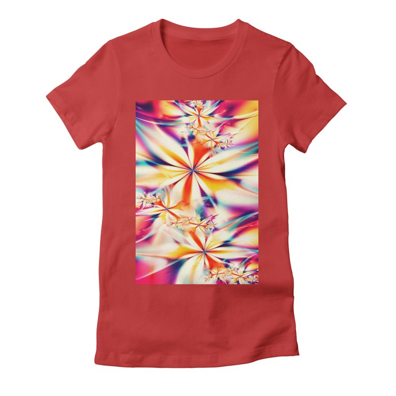 Fractal Art XX Women's Fitted T-Shirt by Abstract designs