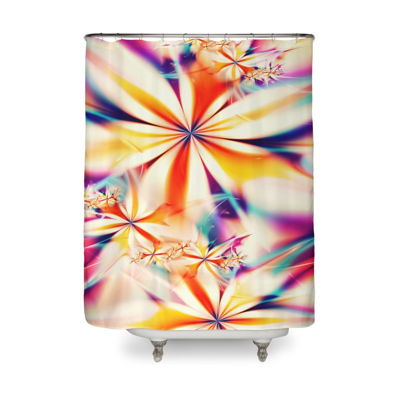 Fractal Art XX Home Shower Curtain by Abstract designs