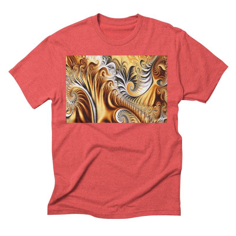 Fractal Art XXXIV Men's Triblend T-shirt by Abstract designs
