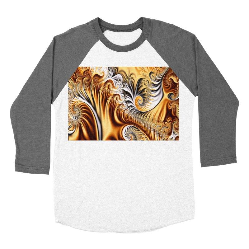 Fractal Art XXXIV Women's Baseball Triblend T-Shirt by Abstract designs