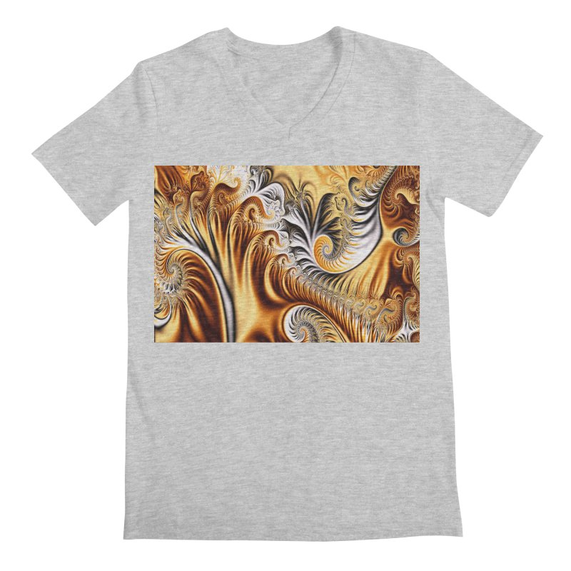 Fractal Art XXXIV Men's V-Neck by Abstract designs