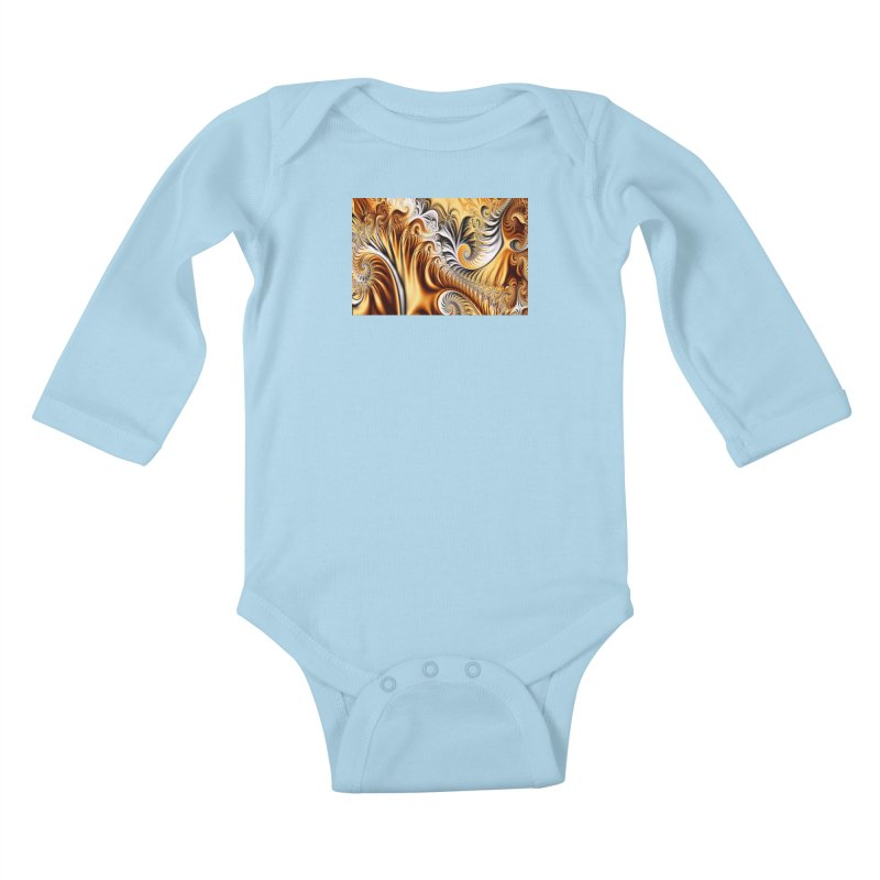 Fractal Art XXXIV Kids Baby Longsleeve Bodysuit by Abstract designs