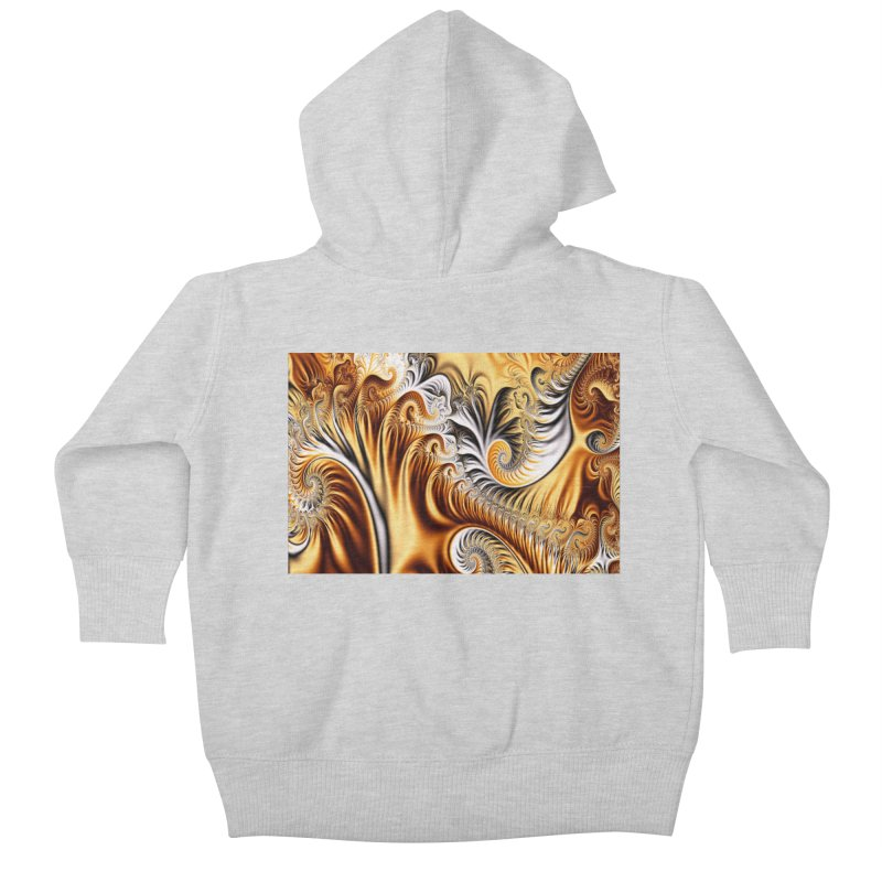Fractal Art XXXIV Kids Baby Zip-Up Hoody by Abstract designs