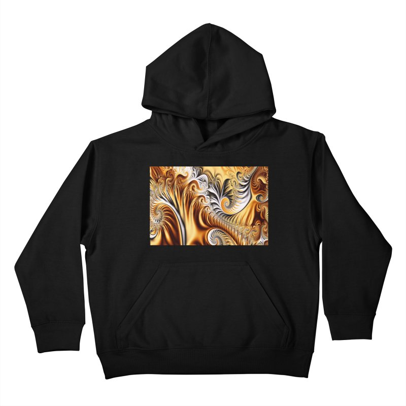 Fractal Art XXXIV Kids Pullover Hoody by Abstract designs
