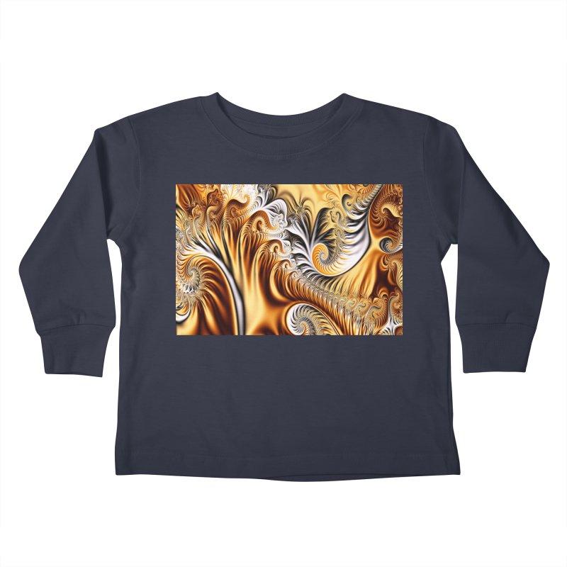 Fractal Art XXXIV Kids Toddler Longsleeve T-Shirt by Abstract designs
