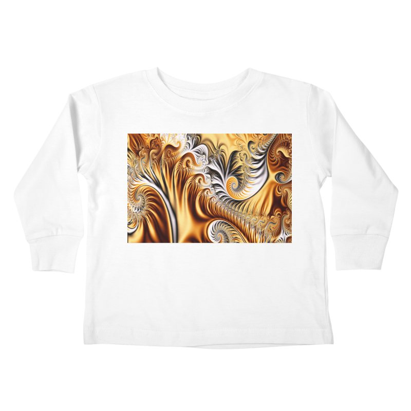 Fractal Art XXXIV Kids Toddler Longsleeve T-Shirt by Abstract designs
