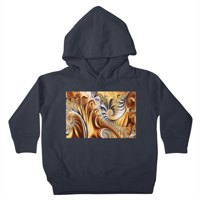 Fractal Art XXXIV Kids Toddler Pullover Hoody by Abstract designs