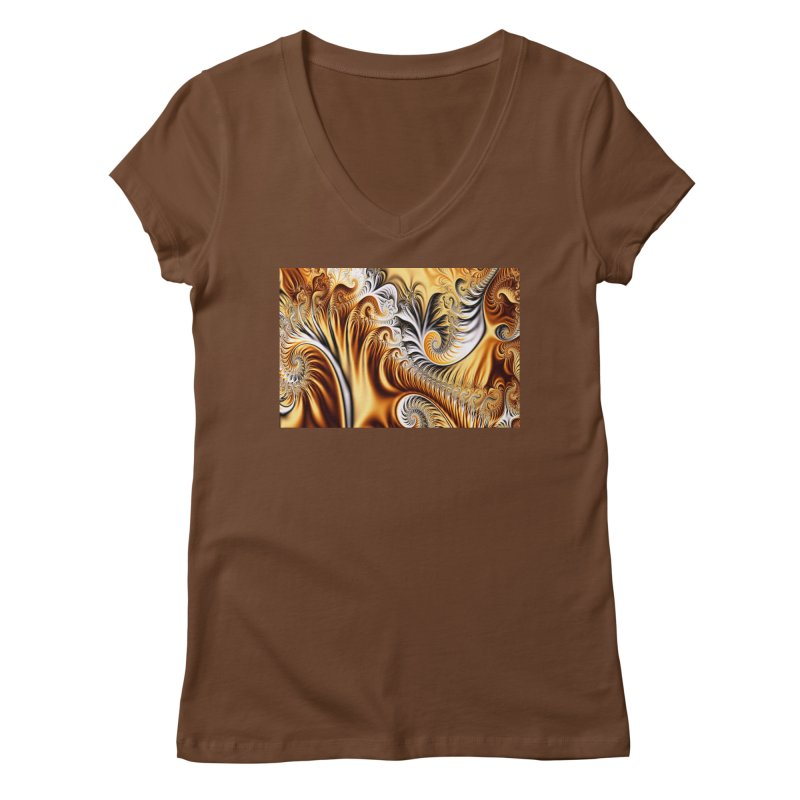 Fractal Art XXXIV Women's V-Neck by Abstract designs