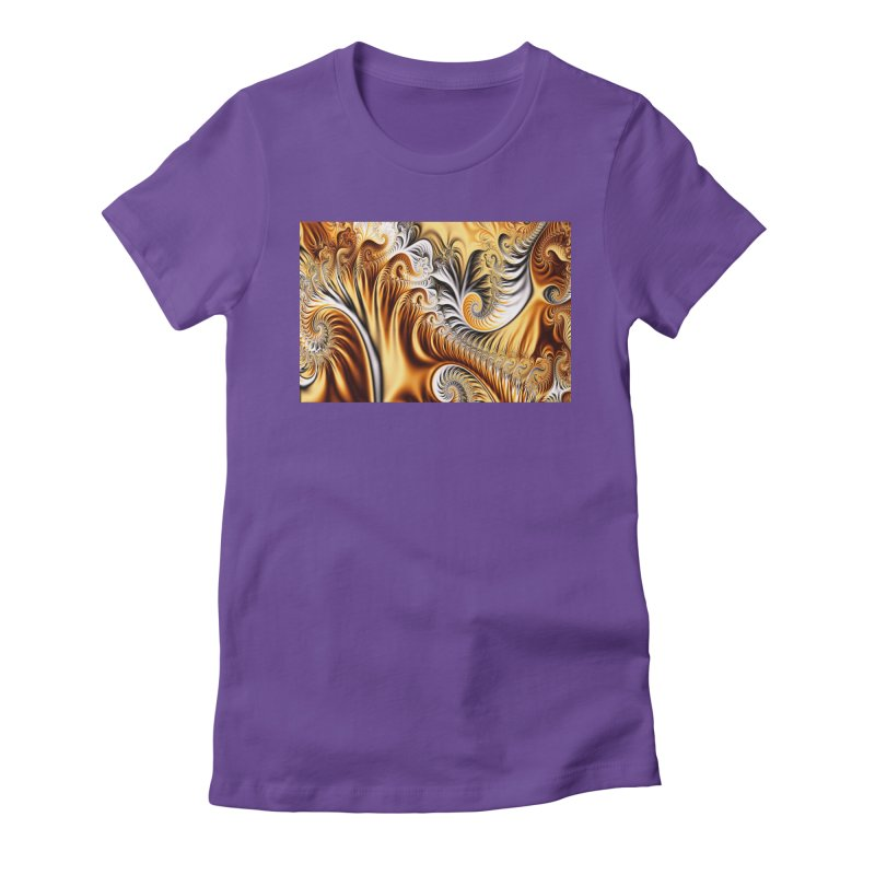 Fractal Art XXXIV Women's Fitted T-Shirt by Abstract designs