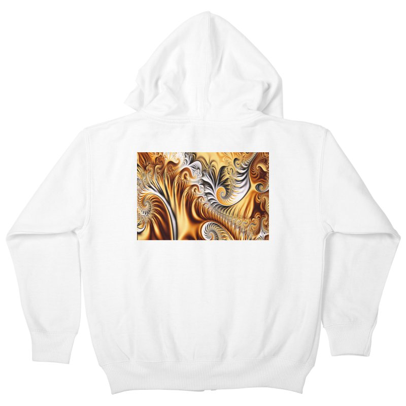 Fractal Art XXXIV Kids Zip-Up Hoody by Abstract designs