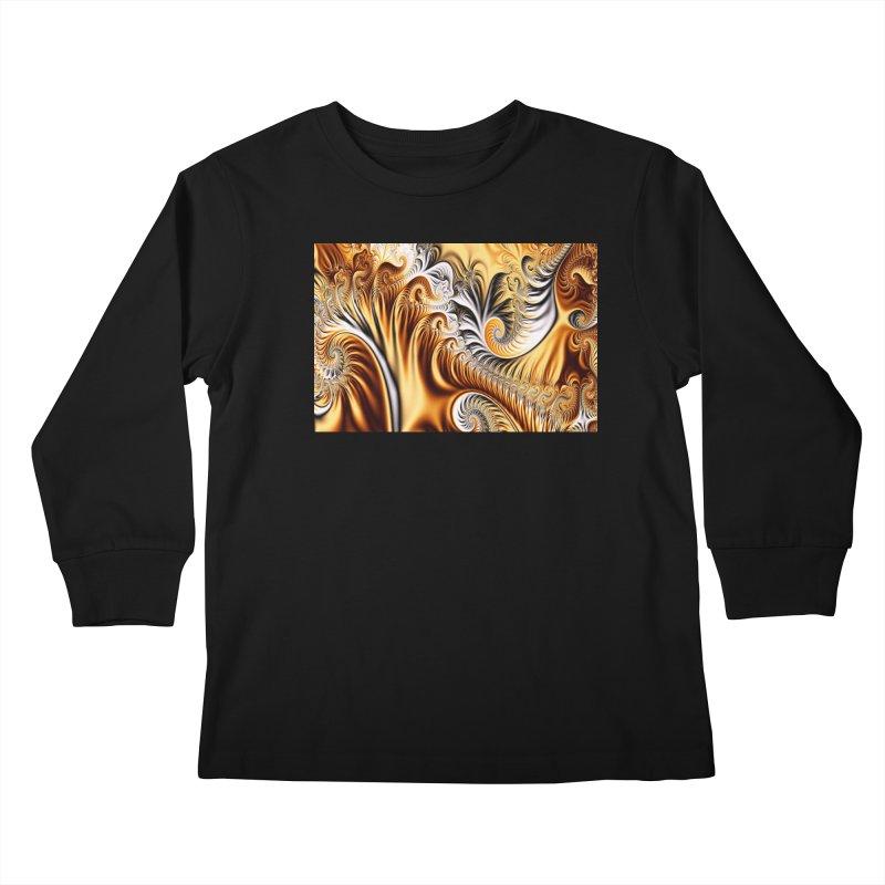 Fractal Art XXXIV Kids Longsleeve T-Shirt by Abstract designs