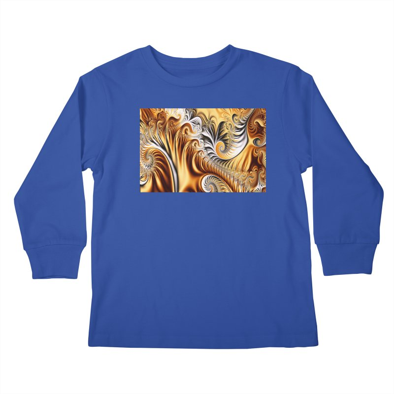 Fractal Art XXXIV Kids Longsleeve T-Shirt by Abstract designs