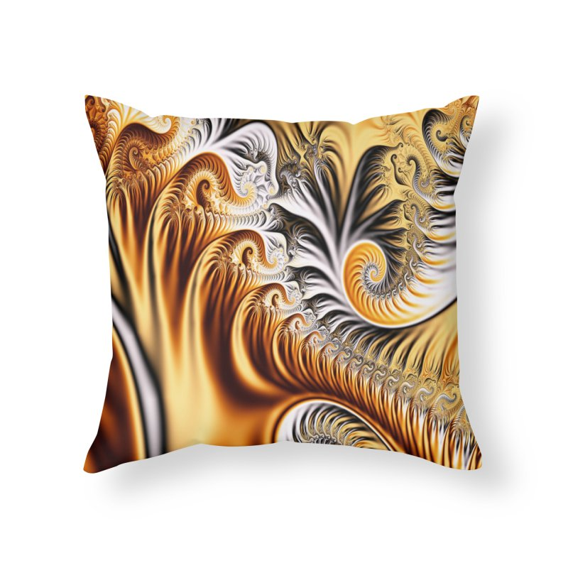 Fractal Art XXXIV Home Throw Pillow by Abstract designs