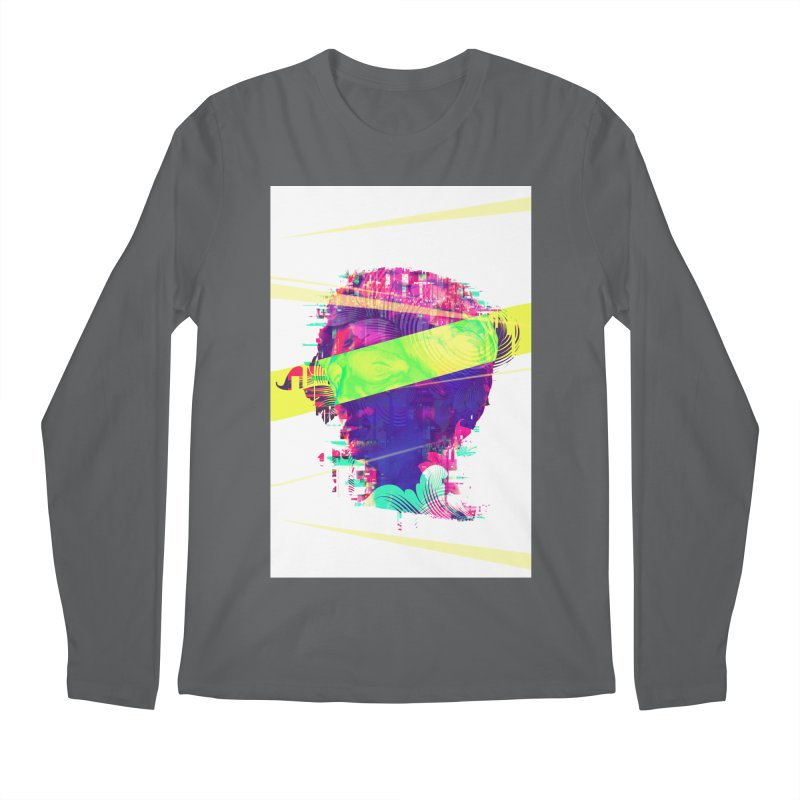 Artistic LXXI - Glitchy Dope Portrait Men's Longsleeve T-Shirt by Abstract designs