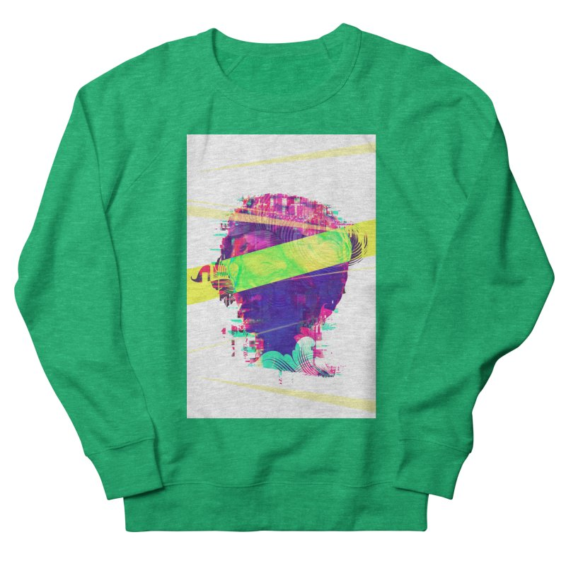 Artistic LXXI - Glitchy Dope Portrait Women's Sweatshirt by Abstract designs