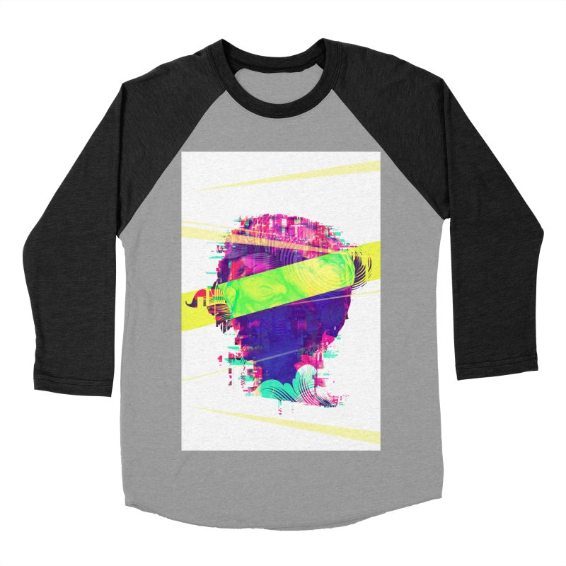 Artistic LXXI - Glitchy Dope Portrait Women's Baseball Triblend T-Shirt by Abstract designs