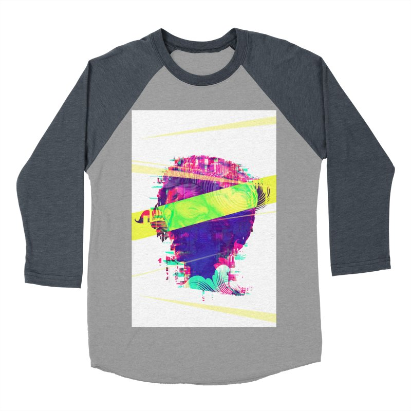 Artistic LXXI - Glitchy Dope Portrait Men's Baseball Triblend T-Shirt by Abstract designs