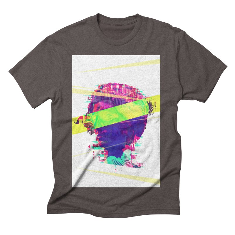 Artistic LXXI - Glitchy Dope Portrait Men's Triblend T-shirt by Abstract designs