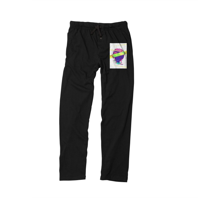 Artistic LXXI - Glitchy Dope Portrait Men's Lounge Pants by Abstract designs