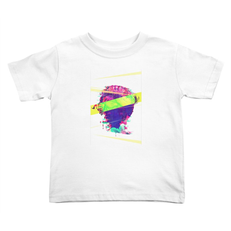 Artistic LXXI - Glitchy Dope Portrait Kids Toddler T-Shirt by Abstract designs