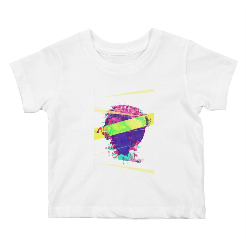 Artistic LXXI - Glitchy Dope Portrait Kids Baby T-Shirt by Abstract designs