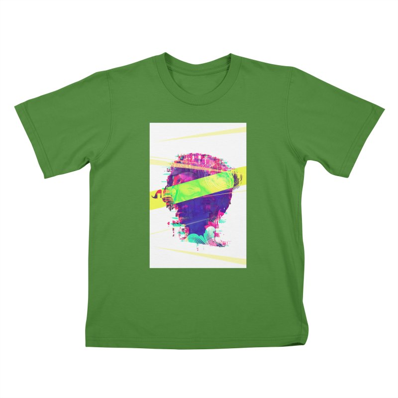 Artistic LXXI - Glitchy Dope Portrait Kids T-shirt by Abstract designs