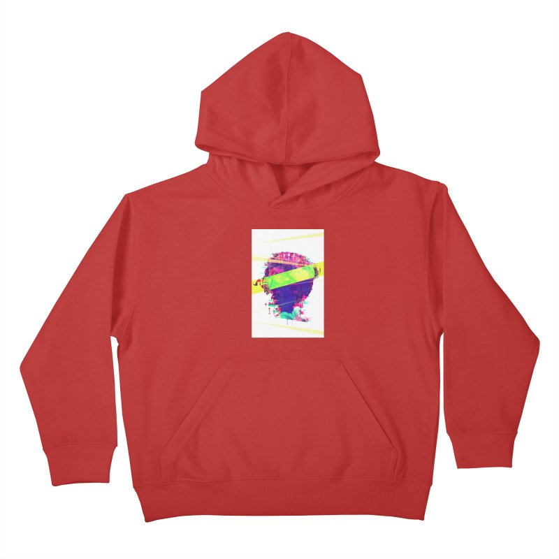 Artistic LXXI - Glitchy Dope Portrait Kids Pullover Hoody by Abstract designs