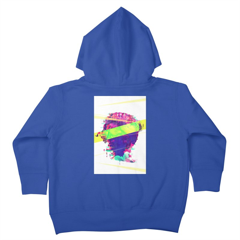 Artistic LXXI - Glitchy Dope Portrait Kids Toddler Zip-Up Hoody by Abstract designs