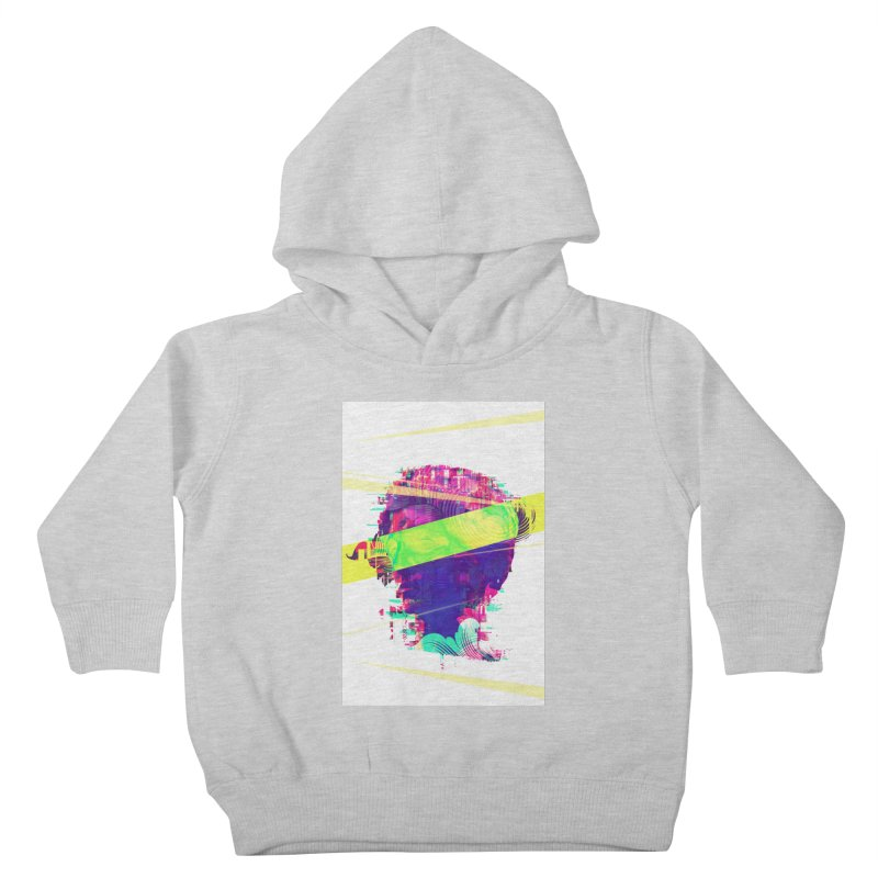 Artistic LXXI - Glitchy Dope Portrait Kids Toddler Pullover Hoody by Abstract designs