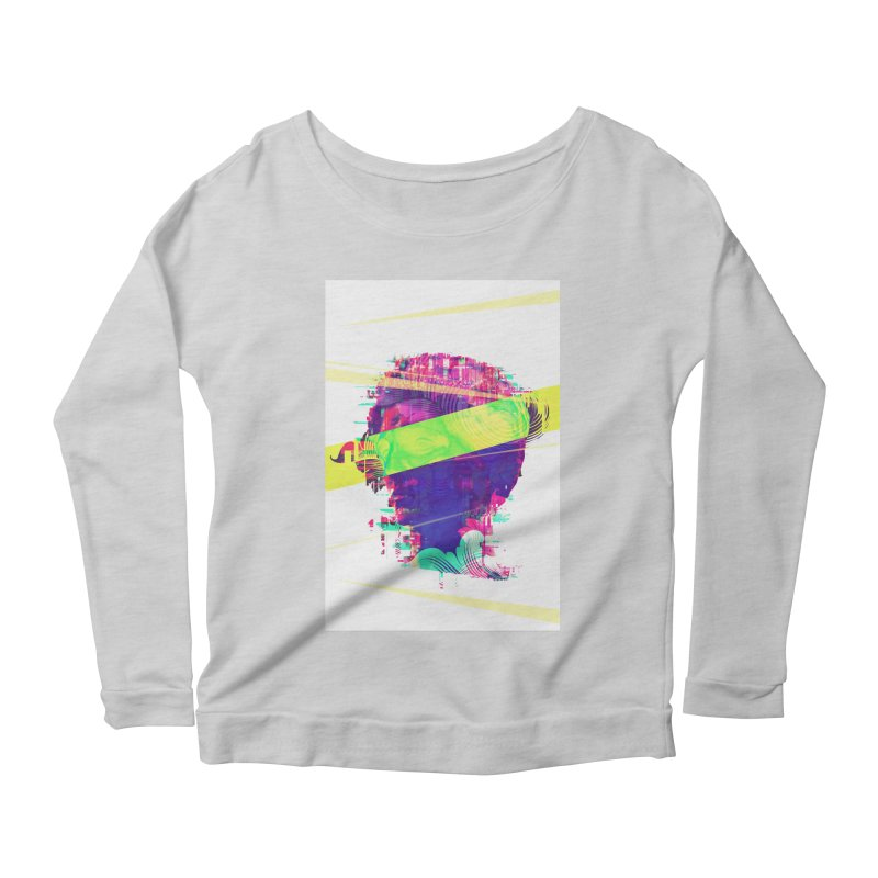 Artistic LXXI - Glitchy Dope Portrait Women's Longsleeve Scoopneck  by Abstract designs