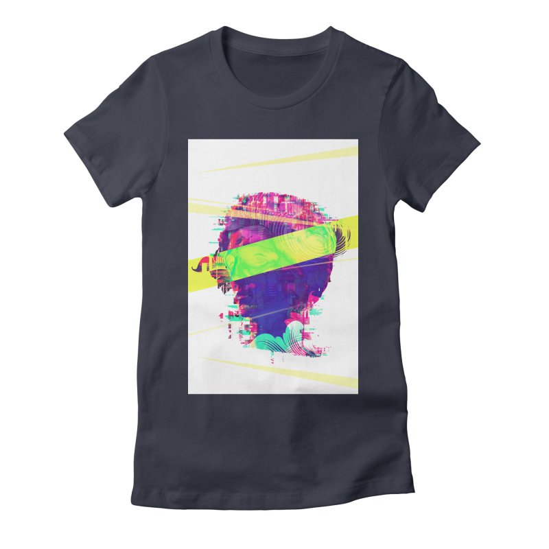 Artistic LXXI - Glitchy Dope Portrait Women's Fitted T-Shirt by Abstract designs