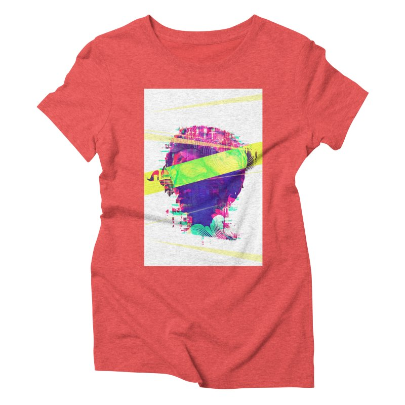 Artistic LXXI - Glitchy Dope Portrait Women's Triblend T-shirt by Abstract designs