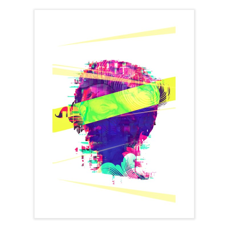Artistic LXXI - Glitchy Dope Portrait Home Fine Art Print by Abstract designs